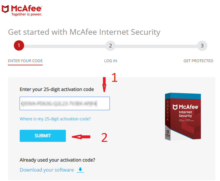 McAfee Internet Security 5 Year 1 PC Region Free