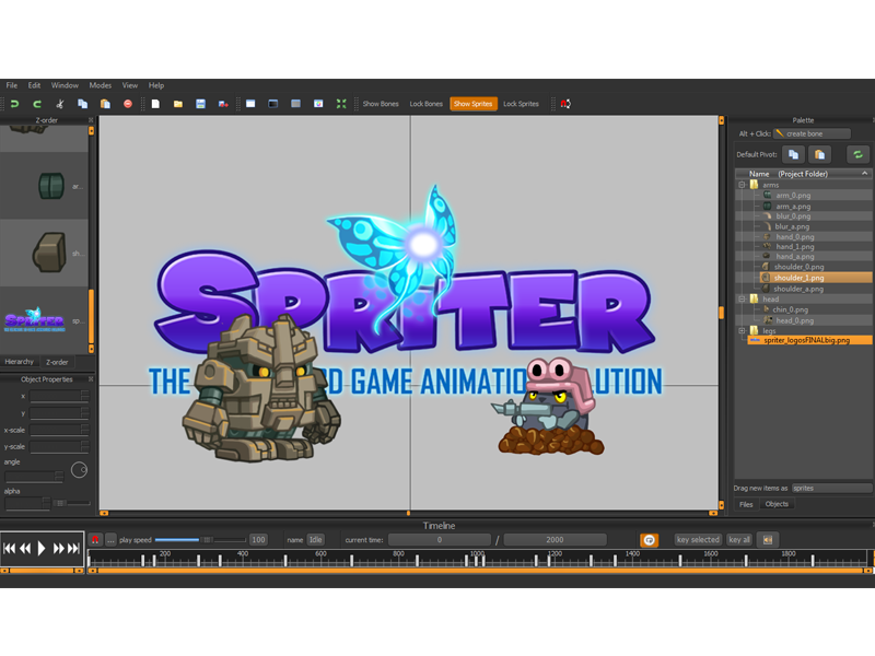 Designer 2D animation Spriter Pro (Steam key)