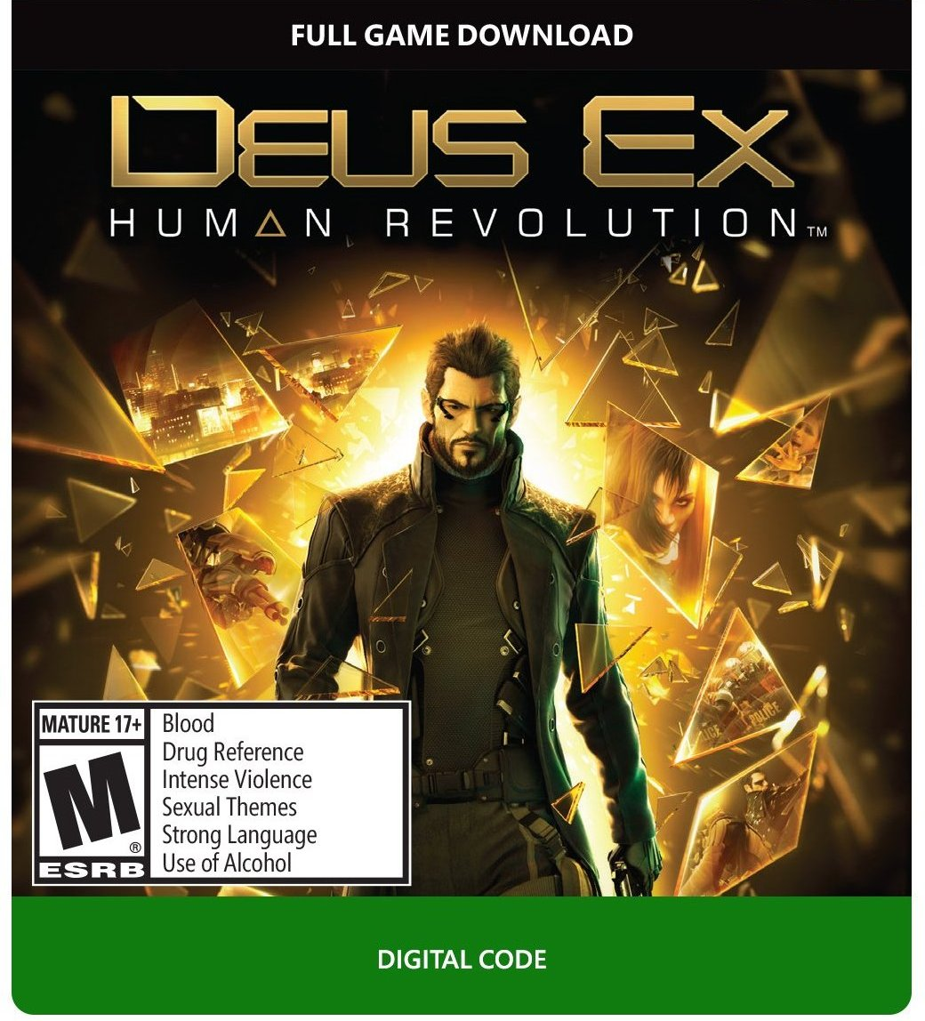 Deus Ex Human Revolution Xbox One 360 цифровой код