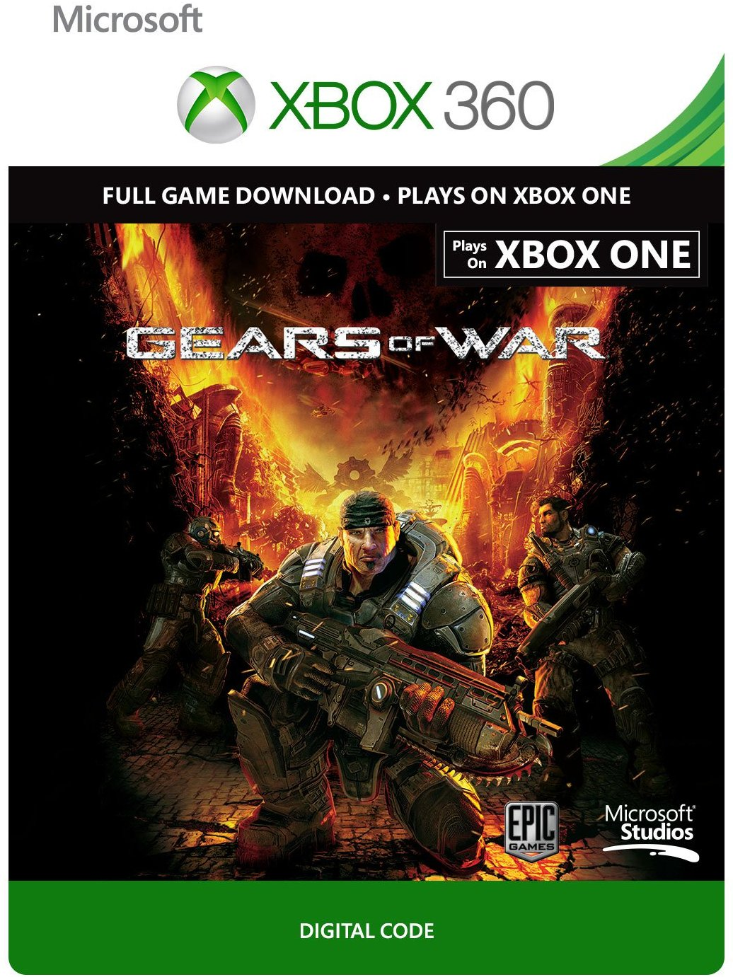 Gears of War Xbox 360 Xbox One digital code REGION FREE