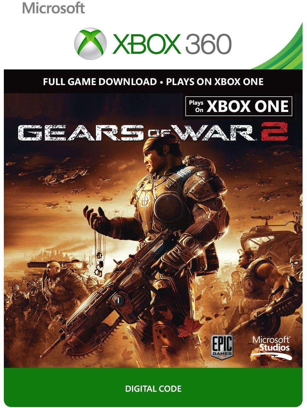 Gears of War 2 Xbox One / 360 digital code REGION FREE