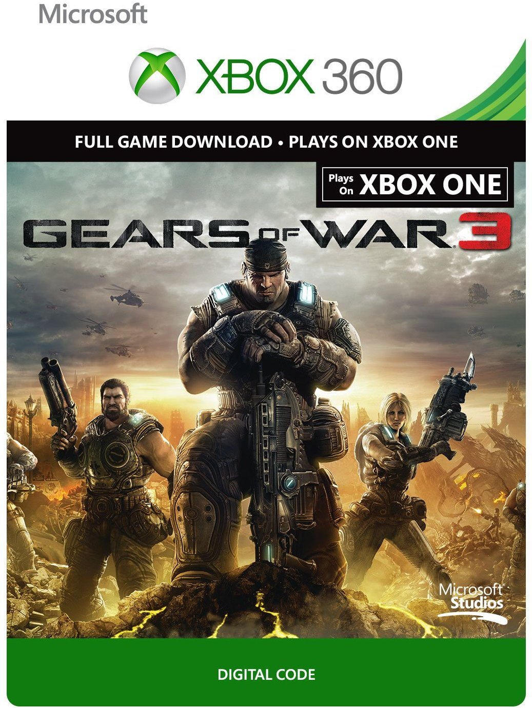 Gears of War 3 Xbox One / 360 digital code REGION FREE