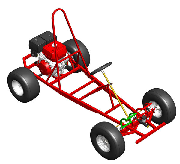 How to assemble a kart? - Manual with drawings