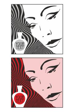 Vector illustration for design cosmetics advertising