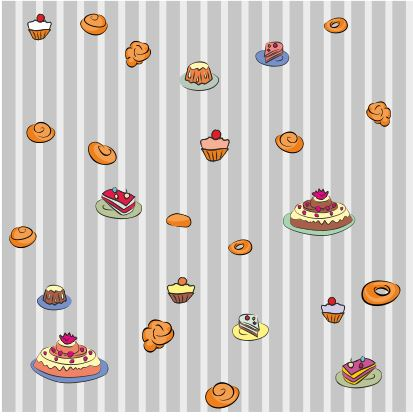 Seamless vector texture for baking advertising