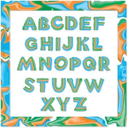 Vector decorative font letter from plasticine