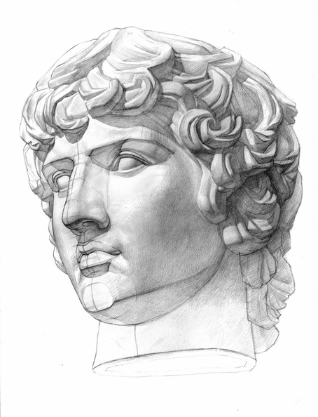 Head of Antinous for educational copying