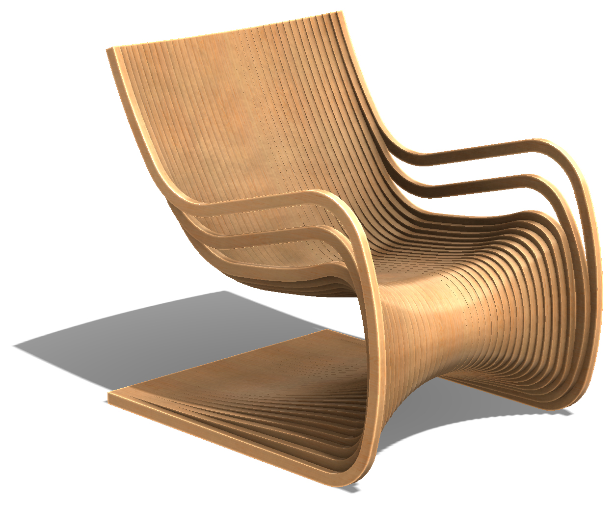 Lesson №72. Furniture SolidWorks. Armchair curved TYPE-