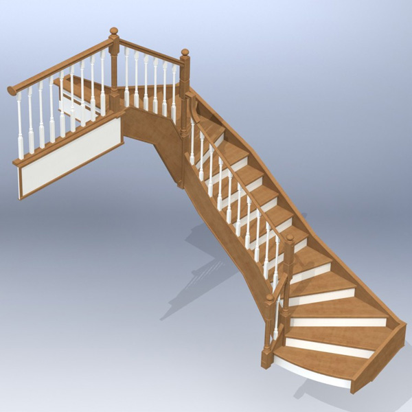 Ladder 011 (catalog 3D-Lessons for SolidWorks)