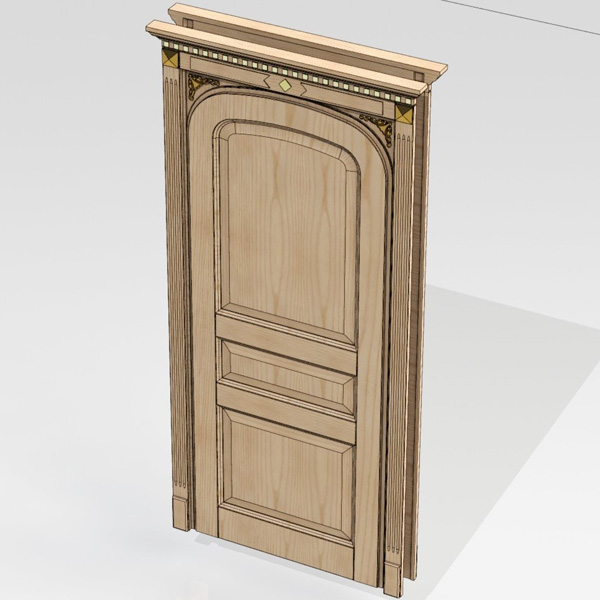 Door unit 006 (catalog 3D-Lessons for SolidWorks)
