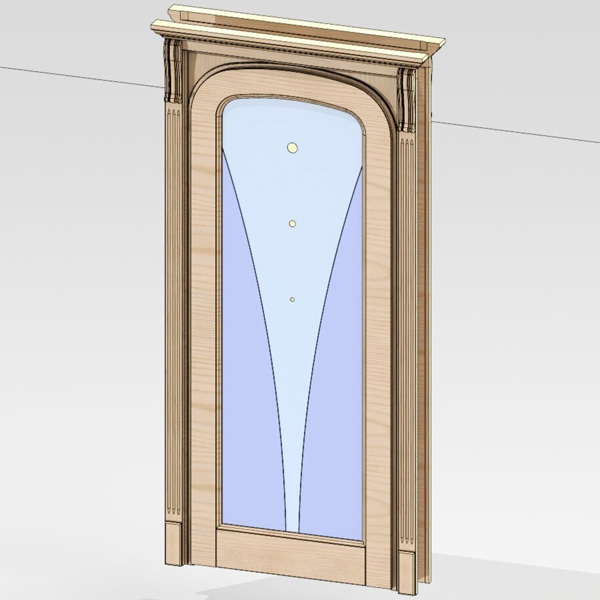 Door unit 007 (catalog 3D-Lessons for SolidWorks)