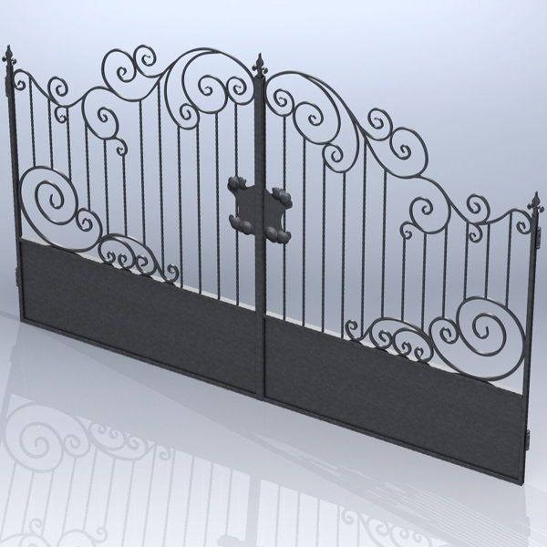 Hammered gates 001 (Catalog 3D. Lessons SolidWorks)
