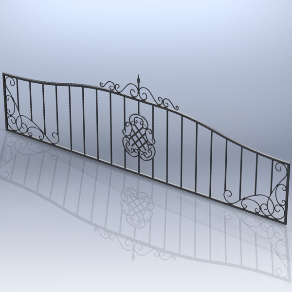 Fence forged 001 (Catalog 3D. Lessons SolidWorks)