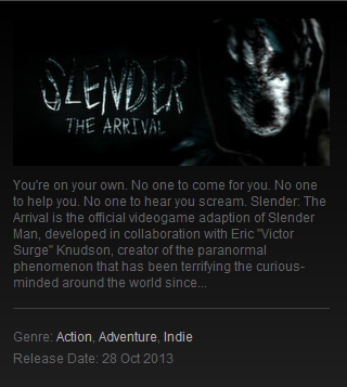 Slender: The Arrival (Steam gift ROW)