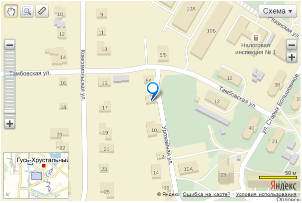 Search on the map at yandex