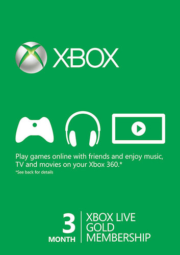 Xbox Live Gold - 3 months - Any country WORLDWIDE
