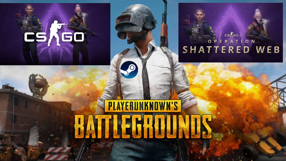 ⭐️ STEAM PUBG + CS GO Global Offensive ONLINE (Reg Free