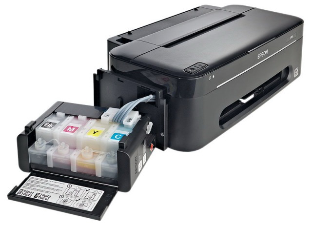 The color profile of the printer Epson L100 (sublimatio