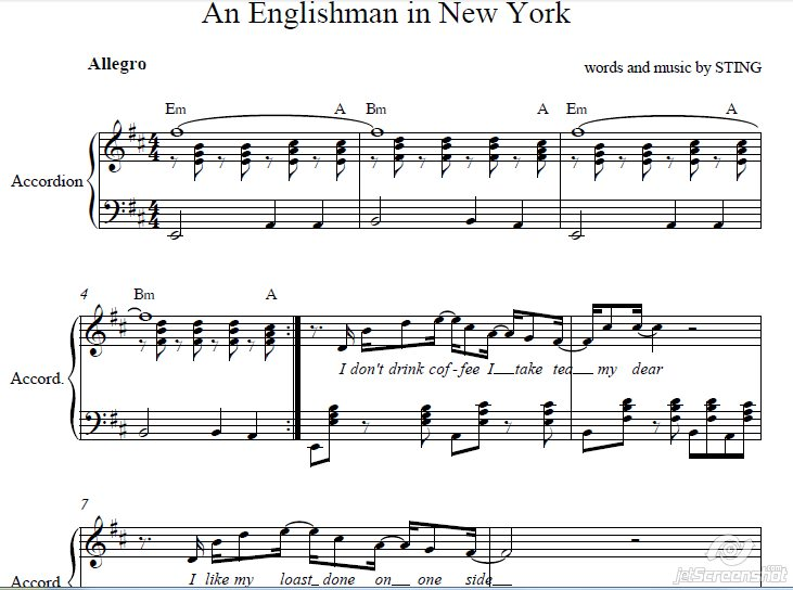 Englishman in New-York /accordion cover
