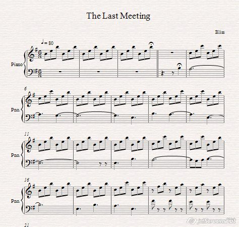 The Last meeting- bliss-notes