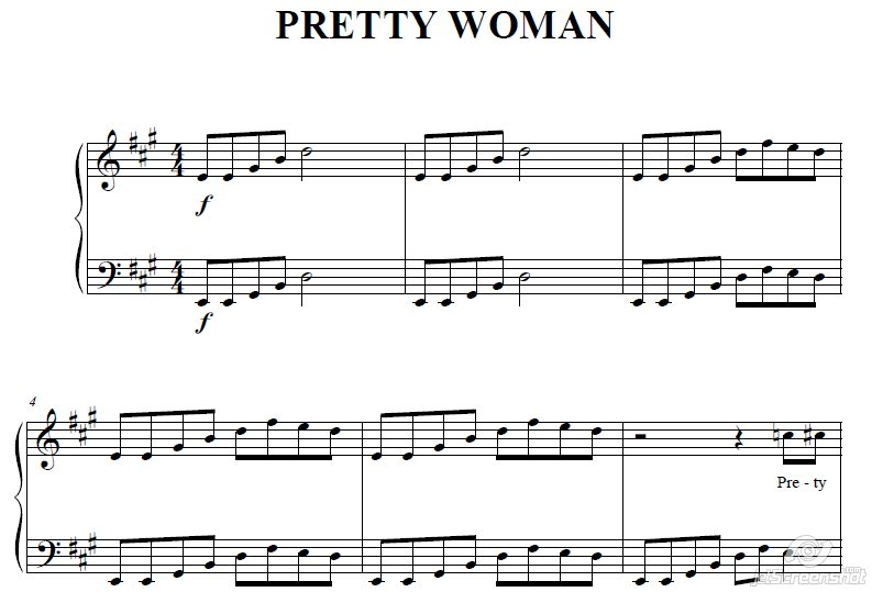 ELVIS PRESLEY (PRETTY WOMAN) for accordion / piano