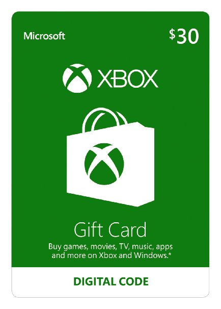 XBOX LIVE PREPAID CARD 30 $ dollars USA