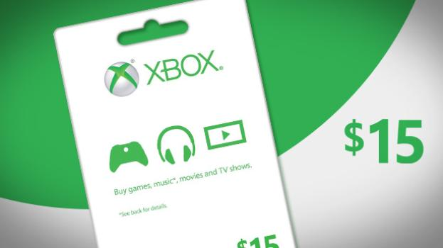 XBOX LIVE PREPAID CARD 15 $ dollars USA