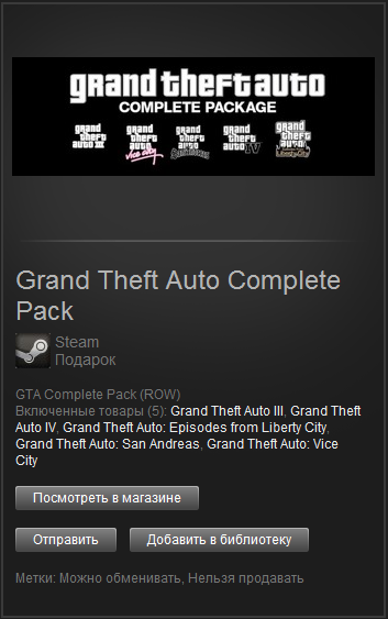 Grand Theft Auto Complete Pack (Steam Gift) ROW