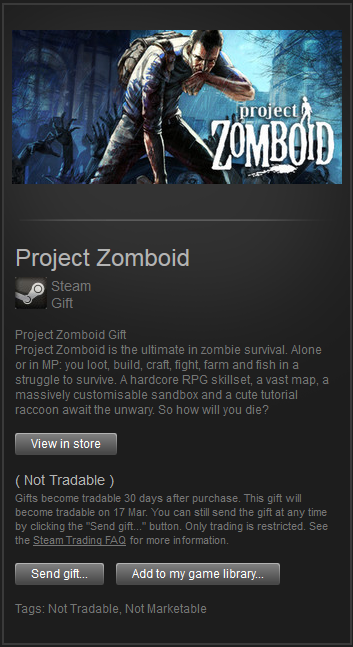 Project Zomboid (Steam Gift) Region Free | ROW
