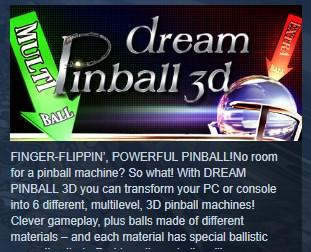 Фотография dream pinball 3d 💎steam key region free global