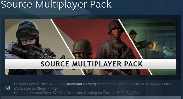 Counter-Strike Source Multiplayer Pack STEAM GIFT 3IN1