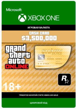 GRAND THEFT AUTO 5 V $3,500,000 WHALE SHARK CARD XBOX