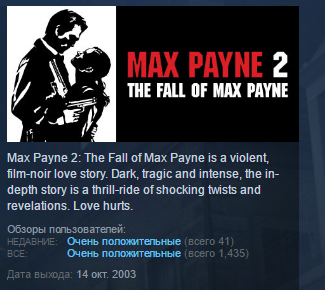 Max Payne 2 II: The Fall of Max Payne ( STEAM KEY )