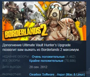 Borderlands 2 Game of the Year Edition GOTY KEY GLOBAL