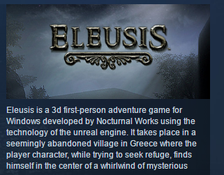 Eleusis ( Steam Key / Region Free ) GLOBAL ROW