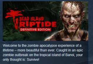 Dead Island Franchise Collection Pack 2  STEAM KEY