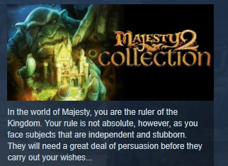 Majesty 2 Collection STEAM KEY REGION FREE GLOBAL