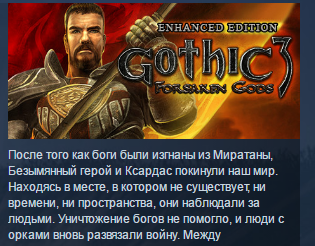 Gothic 3: Forsaken Gods Enhanced Edition STEAM ЛИЦЕНЗИЯ