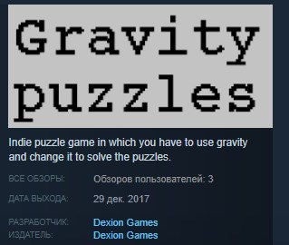Gravity puzzles ( Steam Key / Region Free ) GLOBAL ROW