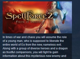SpellForce 2: Faith in Destiny STEAM KEY RU+CIS LICENSE