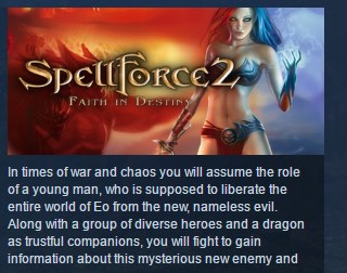 Spellforce 2 Faith in Destiny Digital Deluxe STEAM KEY