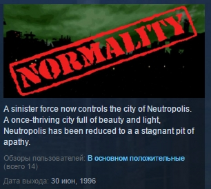 Normality  ( Steam Key / Region Free ) GLOBAL ROW