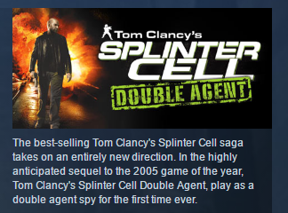 Tom Clancy´s Splinter Cell Double Agent STEAM GIFT