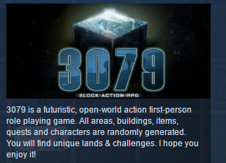 3079 -- Block Action RPG  ( Steam Key / Region Free )