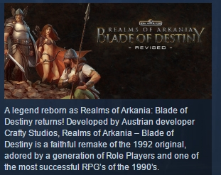 Realms of Arkania Blade of Destiny STEAM KEY ROW GLOBAL