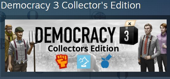 Democracy 3 Collector´s Edition STEAM KEY GLOBAL ROW