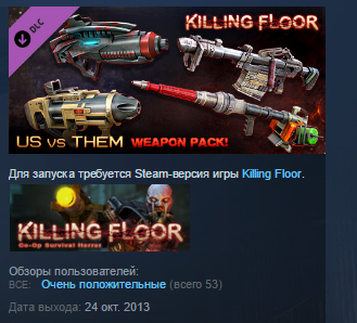 Killing Floor Community Weapons Pack 3 STEAM KEY GLOBAL