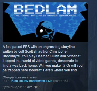 Bedlam  ( Steam Key / Region Free ) GLOBAL ROW