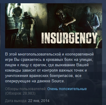 Insurgency   STEAM KEY RU+CIS LICENSE&#128142