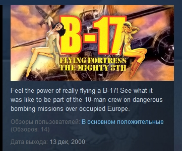 B-17 Flying Fortress: The Mighty 8th STEAM KEY REG FREE